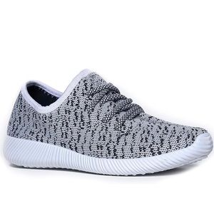 Qupid Fabric Knitted Cloth Lace-up Sneaker